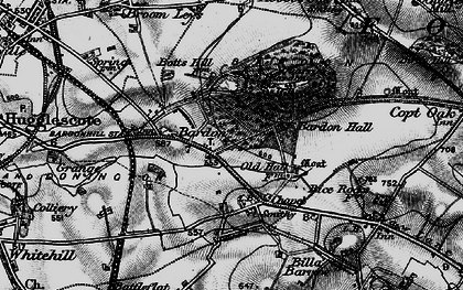 Old map of Bardon in 1895