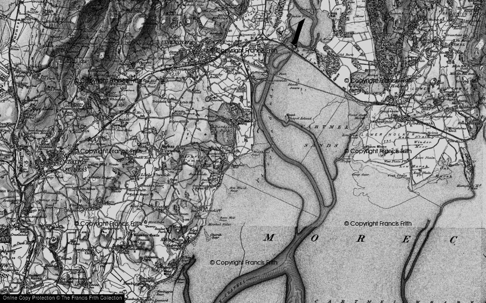 Old Map of Historic Map covering Bardsey Green in 1897