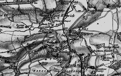 Old map of Barker's Plantn in 1898