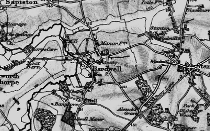 Old map of Bardwell in 1898