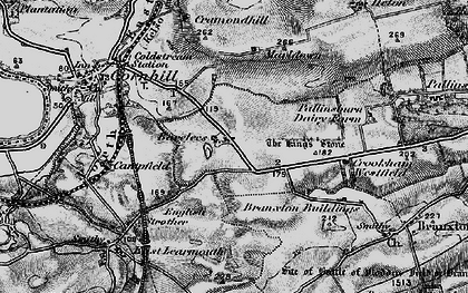 Old map of Bareless in 1897