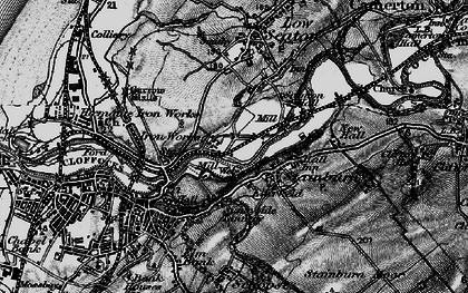 Old map of Barepot in 1897