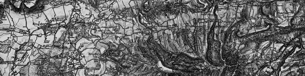 Old map of Whitmoor Vale in 1895