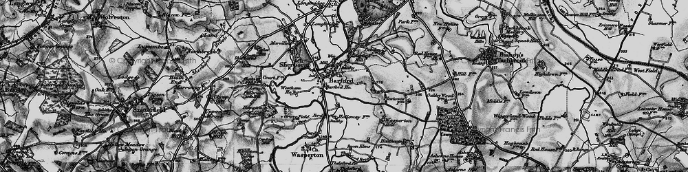 Old map of Barford in 1898