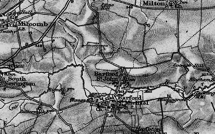 Old map of Barford St John in 1896