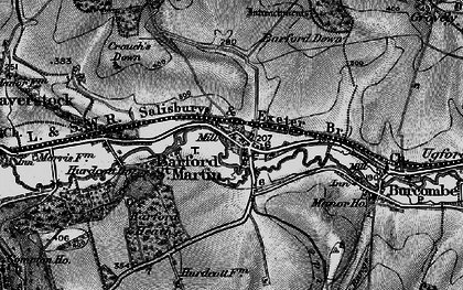 Old map of Barford Down in 1895