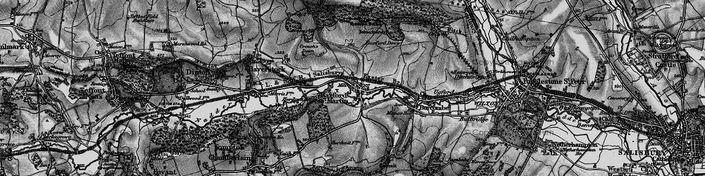 Old map of Barford St Martin in 1895