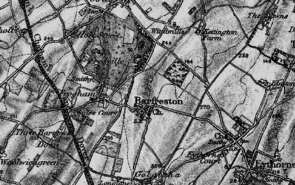 Old map of Barfrestone in 1895