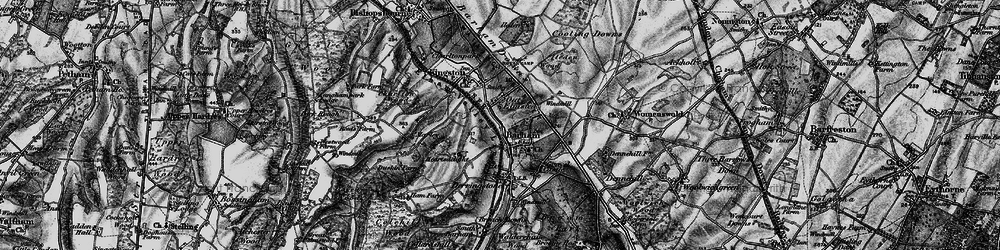 Old map of Barham in 1895