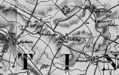 Old map of Barham in 1898
