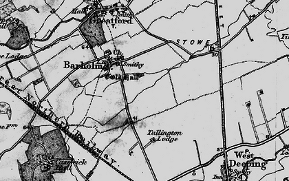 Old map of Barholm in 1895