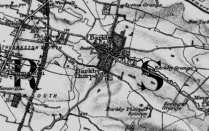 Old map of Barkby Thorpe in 1899