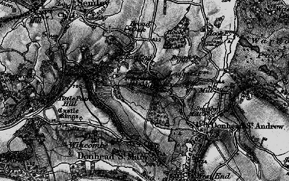 Old map of Barkers Hill in 1895
