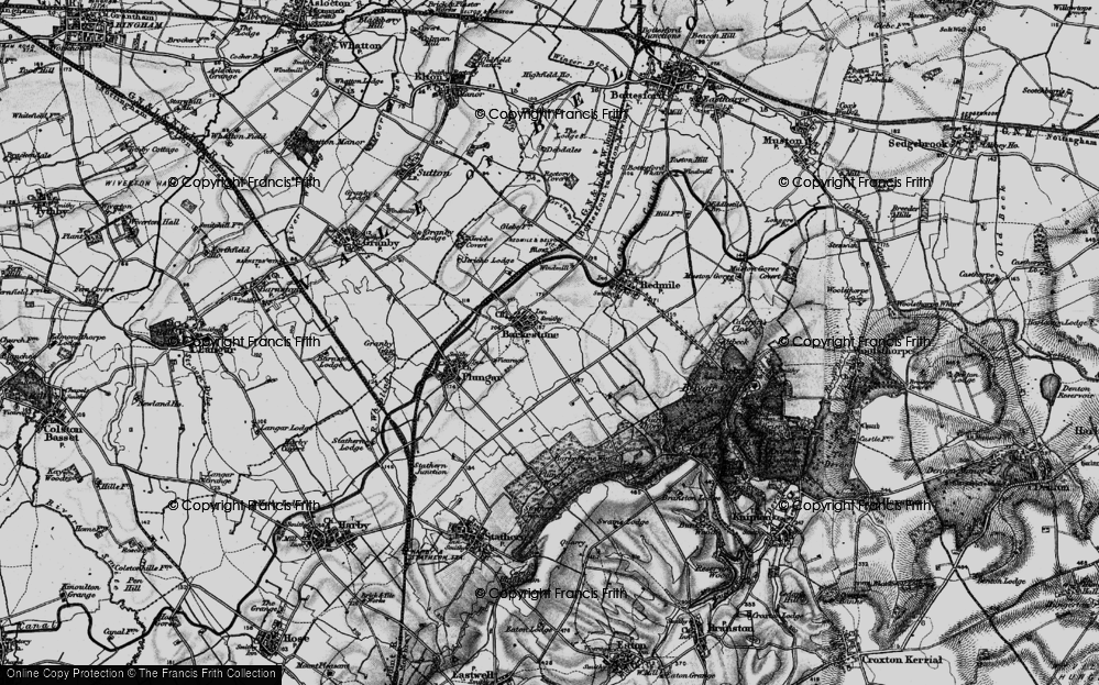 Old Map of Barkestone-le-Vale, 1899 in 1899