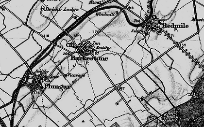 Old map of Barkestone-le-Vale in 1899