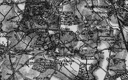 Old map of Barkham Square in 1895