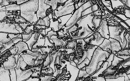 Old map of Barking in 1896