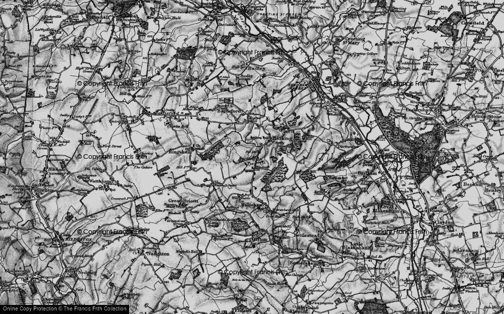 Old Map of Barking Tye, 1896 in 1896