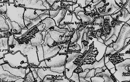 Old map of Barking Tye in 1896
