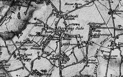 Old map of Aldborough Hatch in 1896