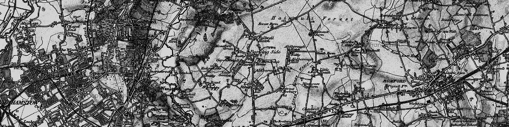Old map of Barkingside in 1896