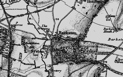 Old map of Barkston Granges in 1895
