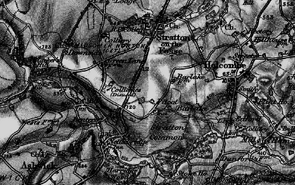 Old map of Barlake in 1898