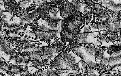 Old map of Barlborough in 1896