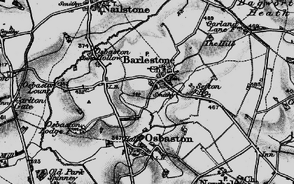 Old map of Barlestone in 1899