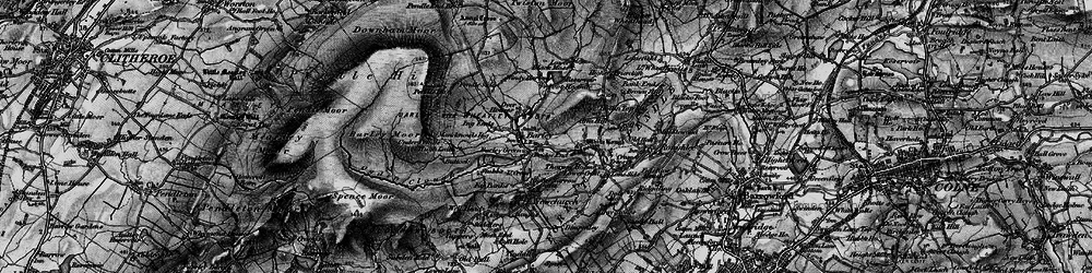 Old map of White Hough in 1898