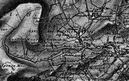 Old map of Barley Green in 1898