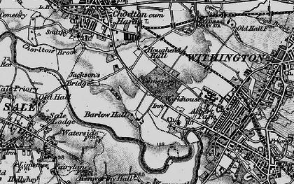 Old map of Barlow Moor in 1896