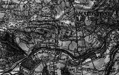 Old map of Barming in 1895