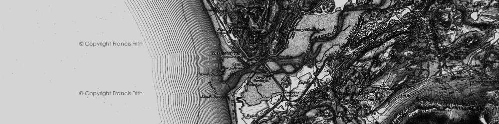 Old map of Barmouth in 1899