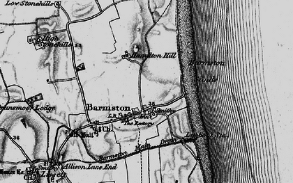 Old map of Barmston in 1897