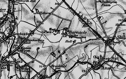 Old map of Barnacle in 1899