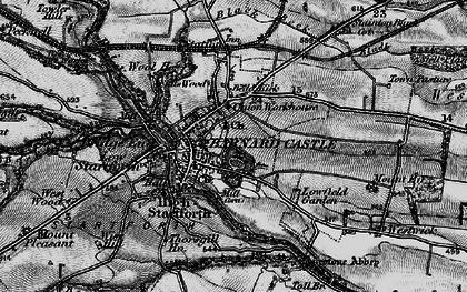 Old map of Barnard Castle in 1897
