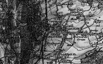 Old map of Barnard's Green in 1898