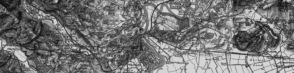 Old map of Barnardtown in 1897