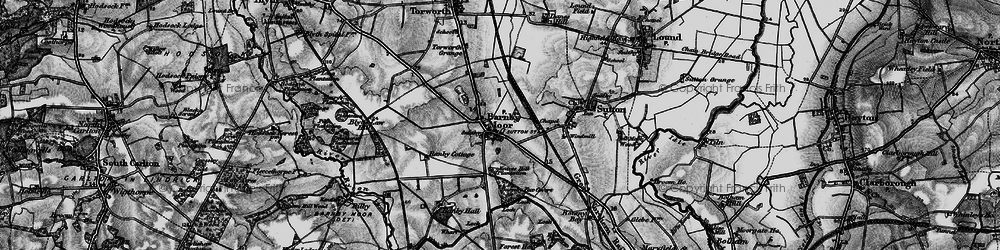 Old map of Barnby Moor in 1899
