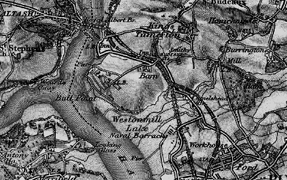 Old map of Barne Barton in 1896