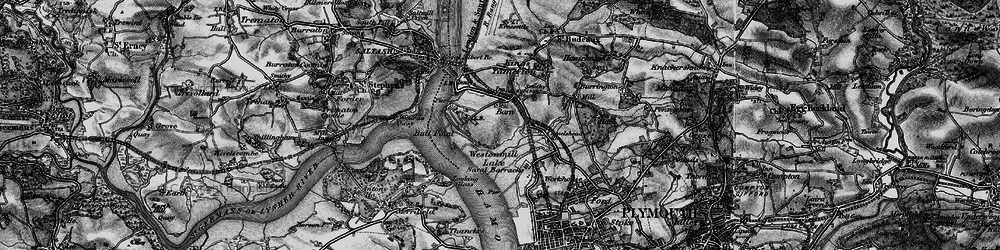 Old map of Weston Mill Lake in 1896
