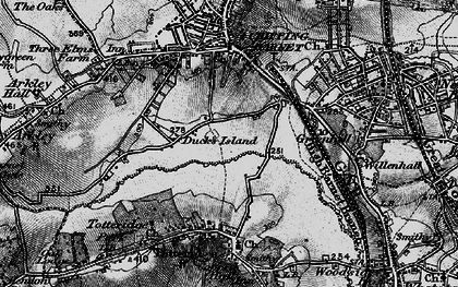 Old map of Barnet in 1896