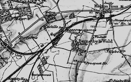 Old map of Barnetby le Wold in 1895