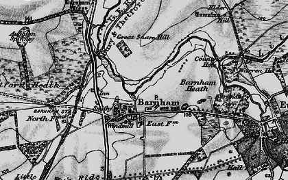 Old map of Aughton Spinney in 1898