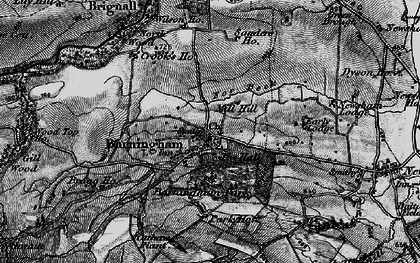 Old map of Barningham in 1897