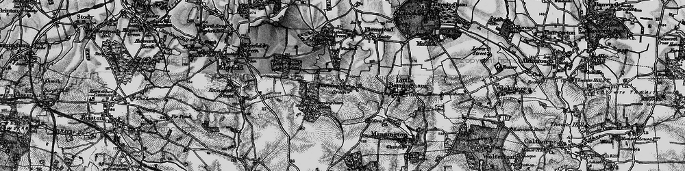 Old map of Barningham Green in 1898
