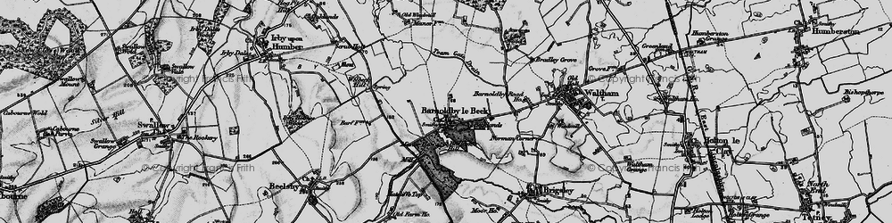 Old map of Barnoldby le Beck in 1899
