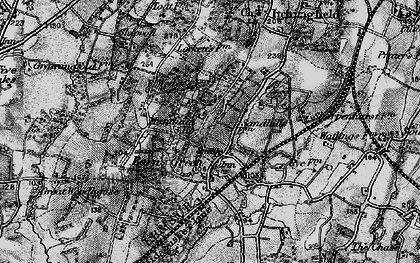 Old map of Barns Green in 1895