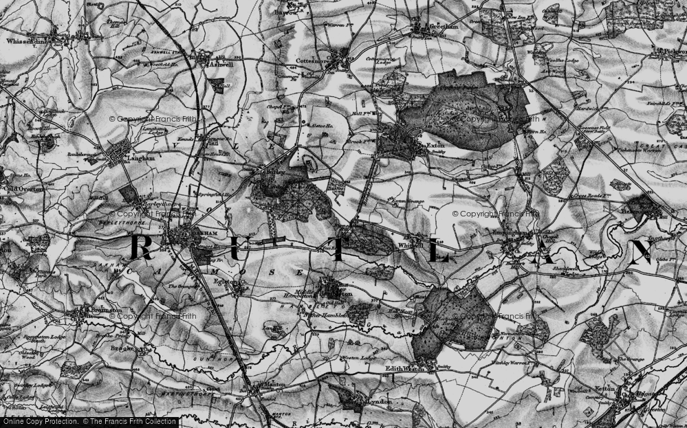 Old Map of Barnsdale, 1895 in 1895